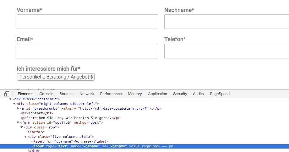Chrome Entwicklertools öffnen
