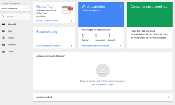 Container im Google Tag Manager anlegen