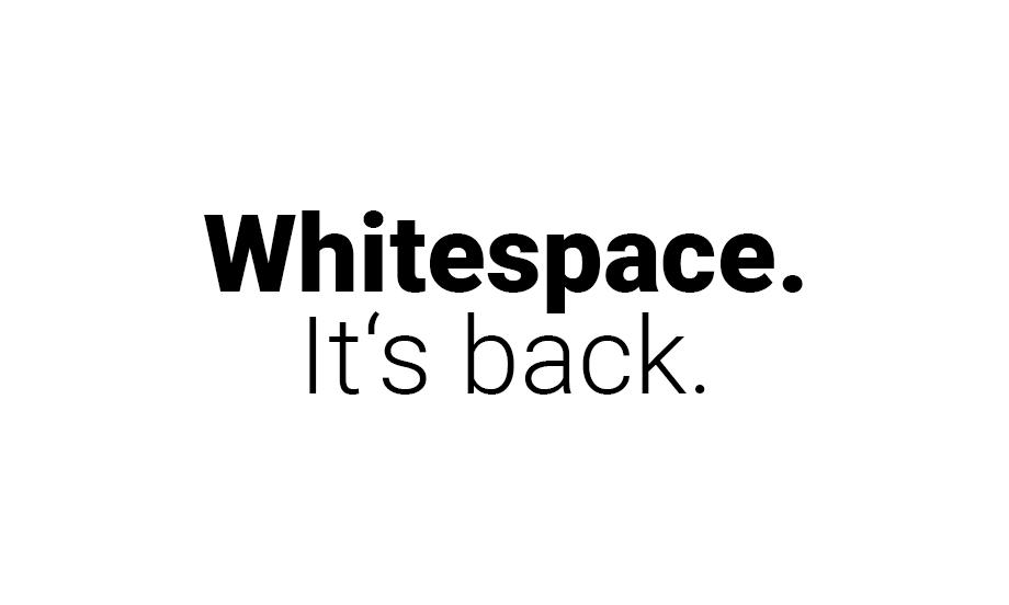 WebdesignTrend 2021: DerWhitespacekommt wieder