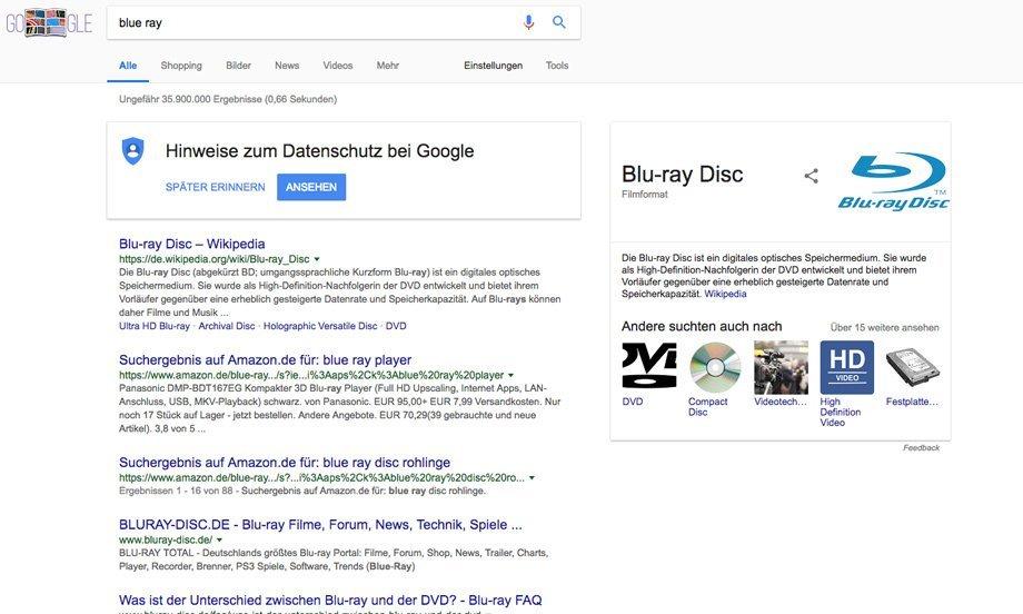 Google Featured Snippet mit Bildern