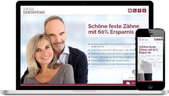 Dentaprime Webdesign und Website