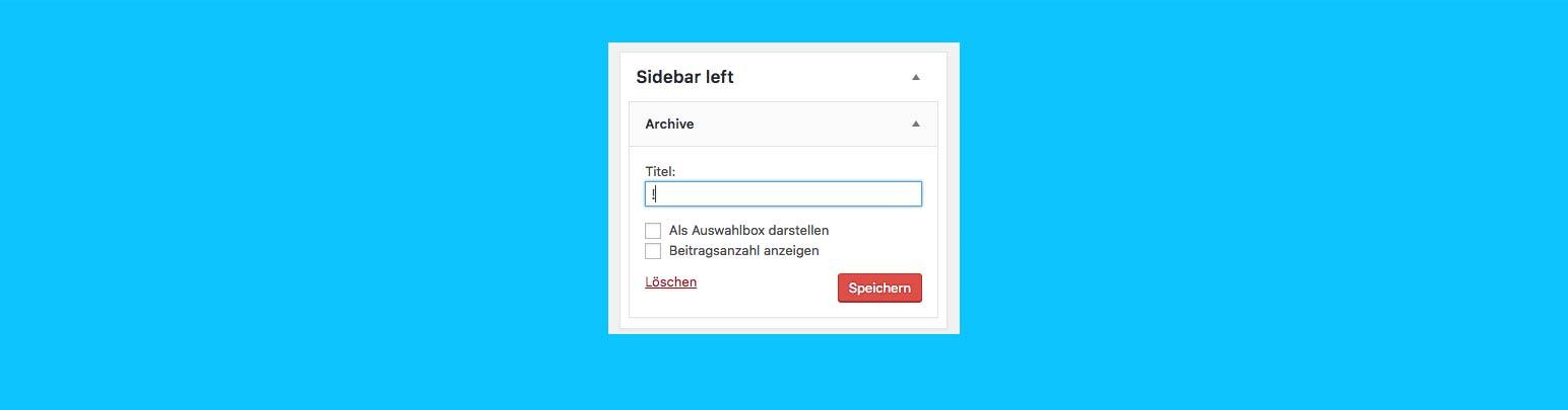 """""""Widget Title entfernen""""-Plugin für WordPress"""